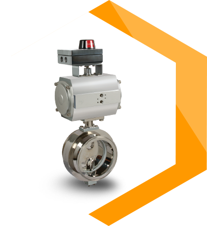 TC End butterfly Valve with Actuator (Centric)